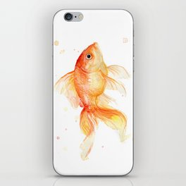 Goldfish Watercolor Fish iPhone Skin