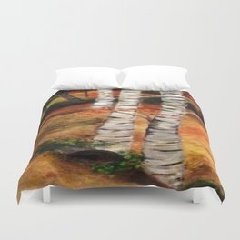 Birch path Duvet Cover