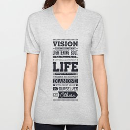Lab No. 4 Vision Does Usually Dr. Michael Norwood Life Motivational Quotes Unisex V-Neck