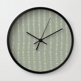 succulent green lines Wall Clock