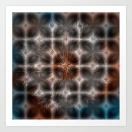 Dandelion Plasma Grid Art Print