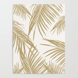 Gold Palm Leaves Dream #1 #tropical #decor #art #society6 Poster