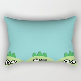 three little dinoes Rectangular Pillow