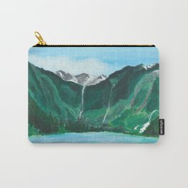 Avalanche Lake Mountain Waterfall Art Carry-All Pouch