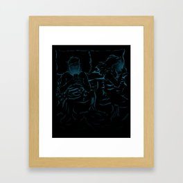 Break in Bed Framed Art Print