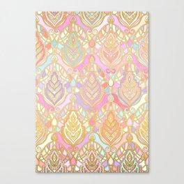 Rosy Opalescent Art Deco Pattern Canvas Print
