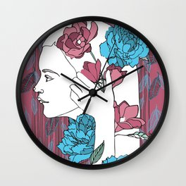 Nina's Portrait Wall Clock