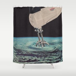 MIXED EARTH POSTER Shower Curtain