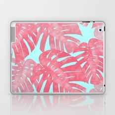 Tropical leaves pink Laptop & iPad Skin