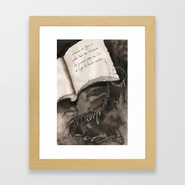 Flying Letters  Framed Art Print