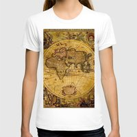 "vintage map T-shirts featuring VintaGe Map by ""CVogiatzi."
