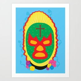 Luchador Art Print
