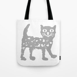 Gray cat pattern Tote Bag