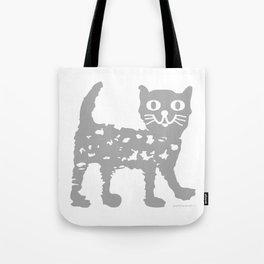 Gray cat pattern Tote Bag