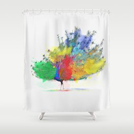 Peacock Colorful Shower Curtain