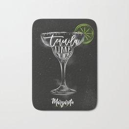 Margarita cocktail chalk color Bath Mat