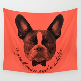 James: A Gentleman and a Scholar in Salmon Wall Tapestry