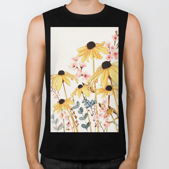 Summer Flowers Biker Tank