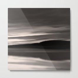 Lake. Reflections of light in water. Metal Print