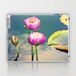 Pink Lotus Flowers (Namaste) Laptop & iPad Skin