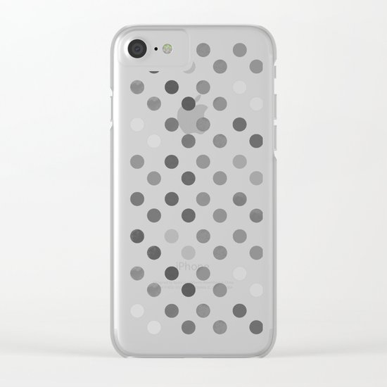 Polka Proton Yellow Clear iPhone Case