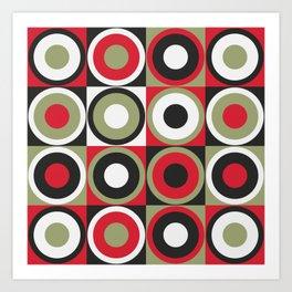 Lucky Strike retro circles Art Print