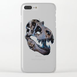 The Dinosaur Skull (Color) Clear iPhone Case
