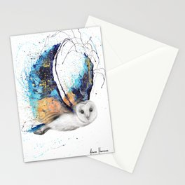 Majestic Moonlight Owl Stationery Cards