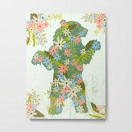 BEAR WITH FLOWERS Metal Print