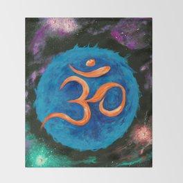 Om Star in Nebula Throw Blanket