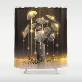Rain Flower Shower Curtain