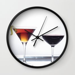 Silver Platter Libations Wall Clock