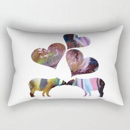 Tapir Art Love Rectangular Pillow