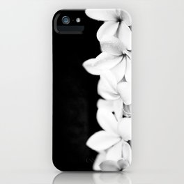 Singapore White Plumeria Flowers the Fragrance of Hawaii iPhone Case
