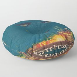 The Great Gatsby vintage book cover - Fitzgerald - muted tones Floor Pillow