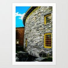 Round barn exterior Art Print