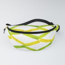 Chartreuse & Lemon Watercolor Net Pattern  Fanny Pack