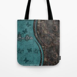 Steampunk His Side Her Side Tote Bag
