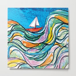 Sailing 2 Metal Print