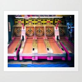 Skee Ball Blurry Photo Art Print