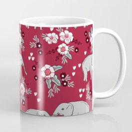 Alabama university crimson tide elephant pattern college sports alumni gifts Coffee Mug