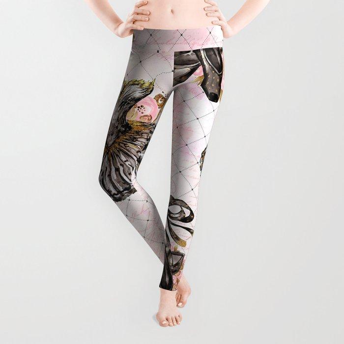 Black Tutu Ballerina Leggings