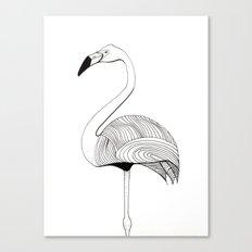 Flamingo Sketch Canvas Print