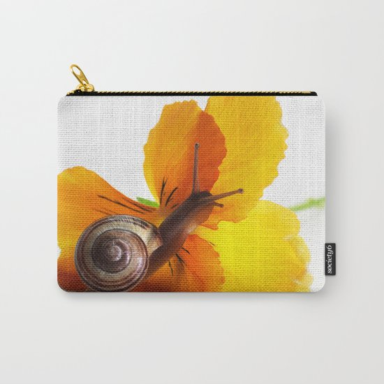 Little snail loves flowers Carry-All Pouch