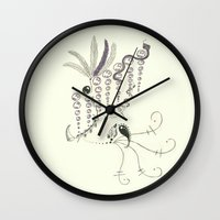 sketch Wall Clocks featuring Sketch by Maya Isabelle
