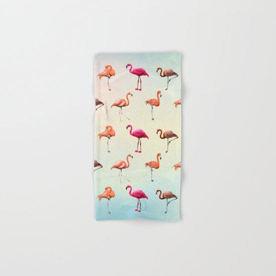 Pink flamingos Hand & Bath Towel