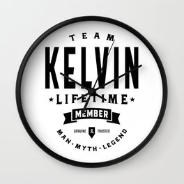 Kelvin Personalized Name Birthday Gift Wall Clock
