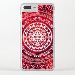 Mandala Scarlet Destiny Spiritual Zen Bohemian Hippie Yoga Mantra Meditation Clear iPhone Case