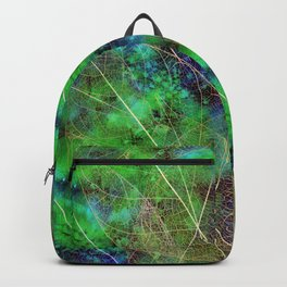 Green Golden Leaves Backpack
