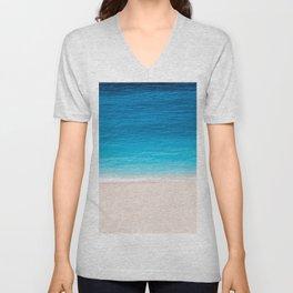 Alone On The Beach Unisex V-Neck